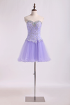 2019 Lovely Homecoming Dresses A Line Sweetheart Short/Mini