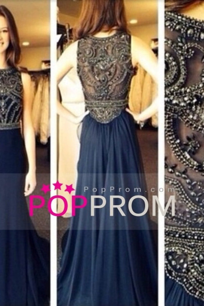 2019 Hot Selling Scoop A Line Full Length Prom Dress Beaded Tulle Bodice With Chiffon Skirt Ready To Ship