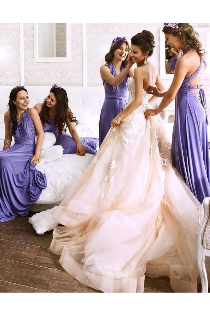 2019 Halter Bridesmaid Dresses Chiffon A Line With
