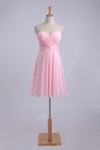 2019 New Arrival Homecoming Dress Sweetheart Short/Mini Ruffled