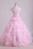 2019 Organza Luxury Quinceanera Dresses Ball Gown Sweetheart Floor-Length With Jacket