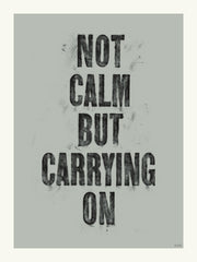 Not Calm But Carrying On