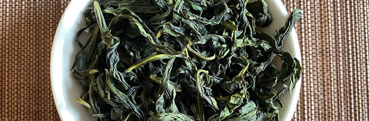 Wenshan Baozhong Tea dry leaves top view