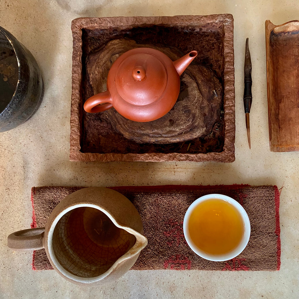 Charcoal Roasted High Mountain Oolong Tea spring 2020 Gong Fu teapot pitcher and cup