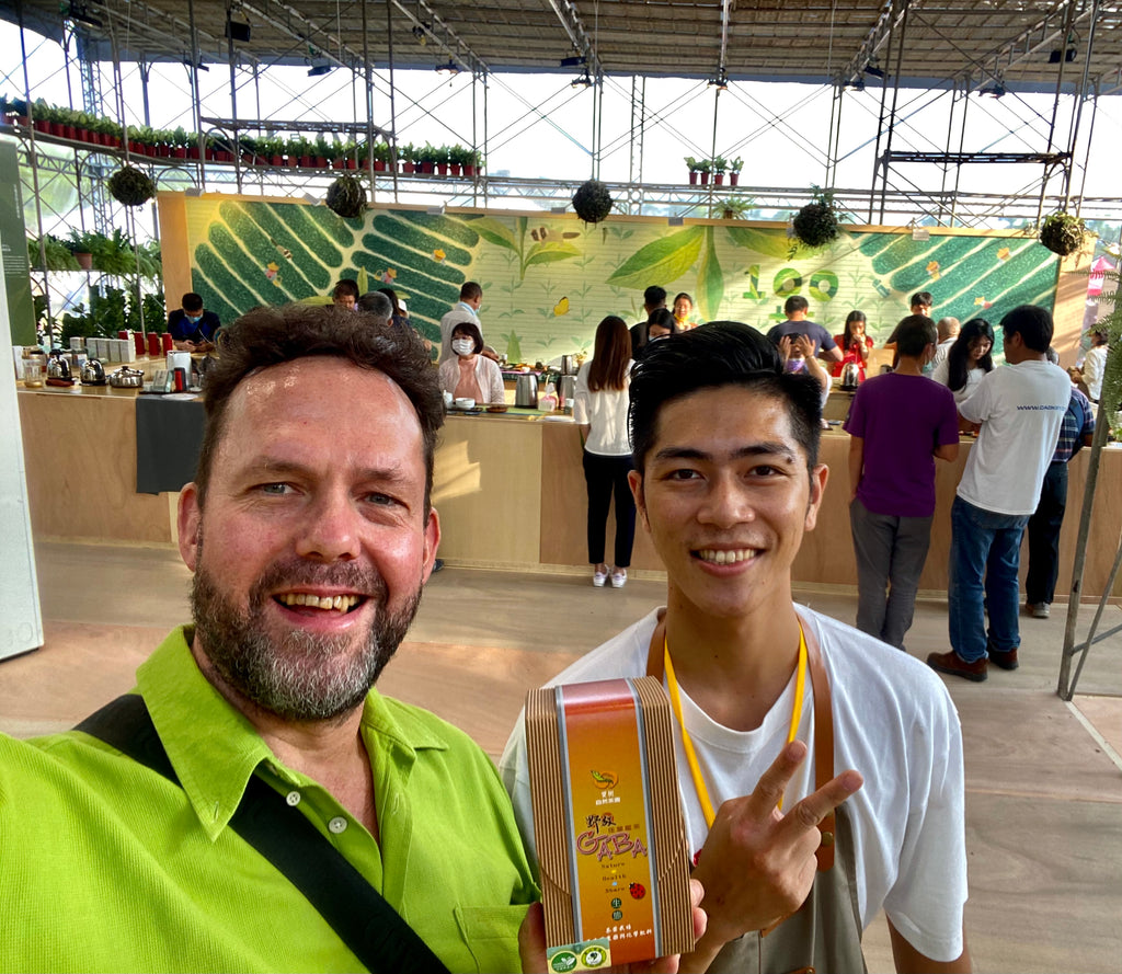 Eco-Cha with next generation organic tea farmer at Taiwan's Nantou Global Tea Expo