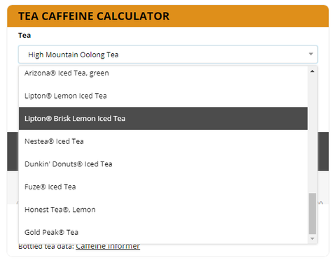 Eco-Cha Caffeine Calculator