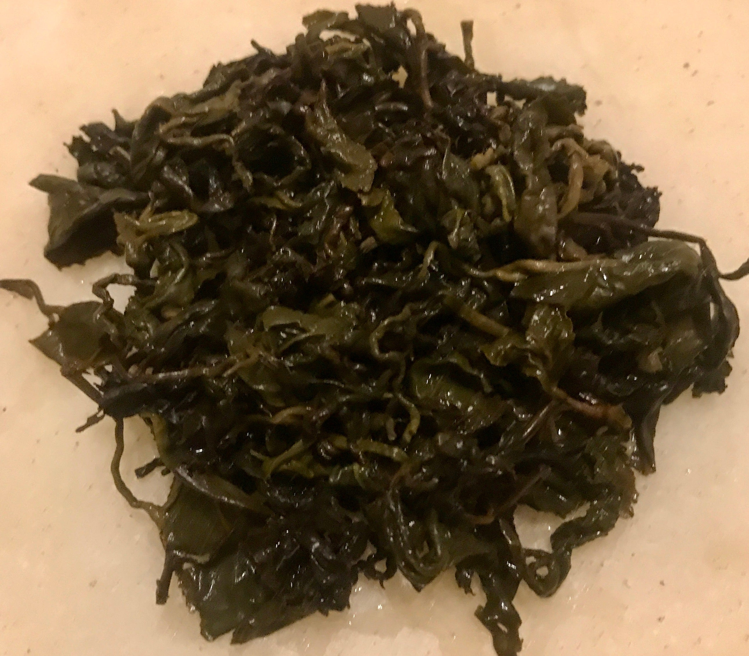 Eco-Cha Tea Club Charcoal Roasted High Altitude Oolong Tea - brewed leaves