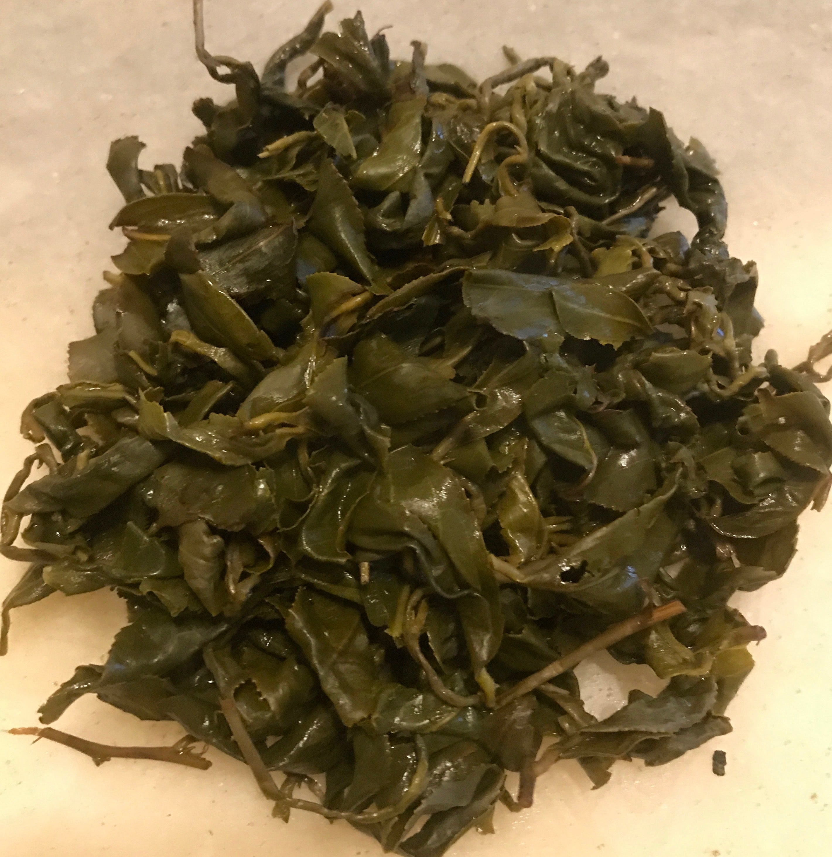 Eco-Cha Tea Club Light Roast Concubine Oolong brewed tea leaves