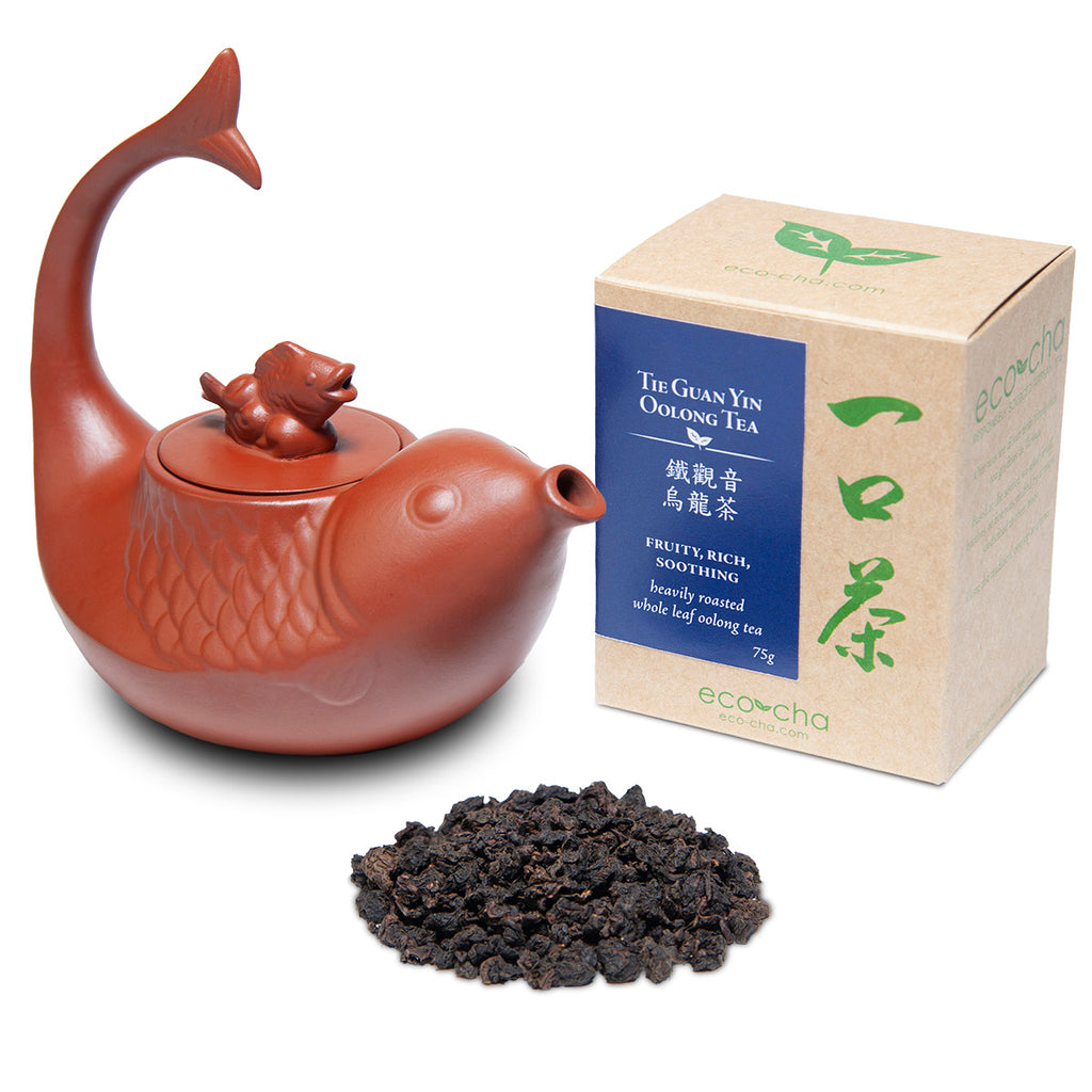 Eco-Cha Dragon Boat Festival Fish Teapot Package Deal
