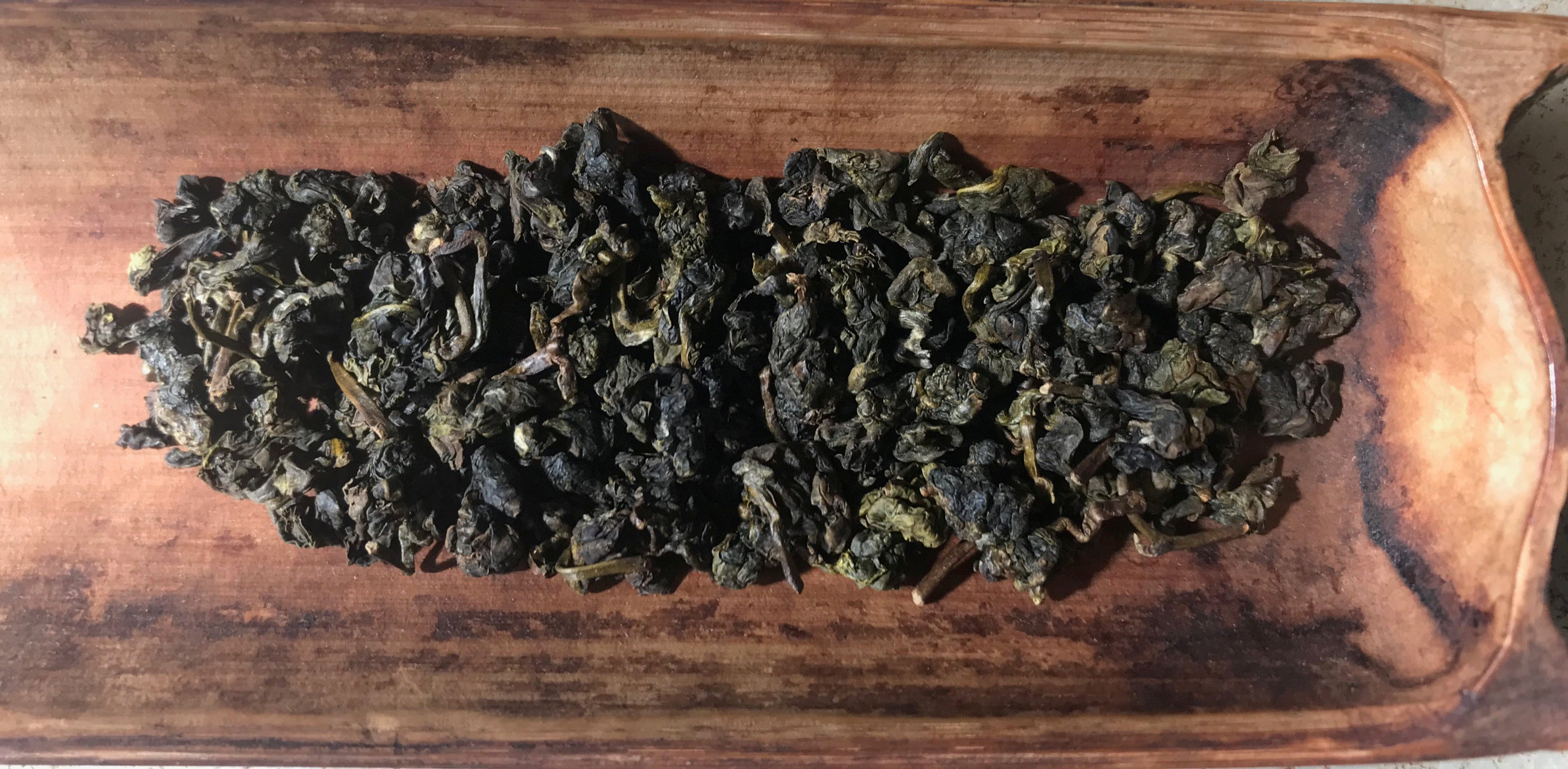 Dong Ding Tie Guan Yin dried tea leaves