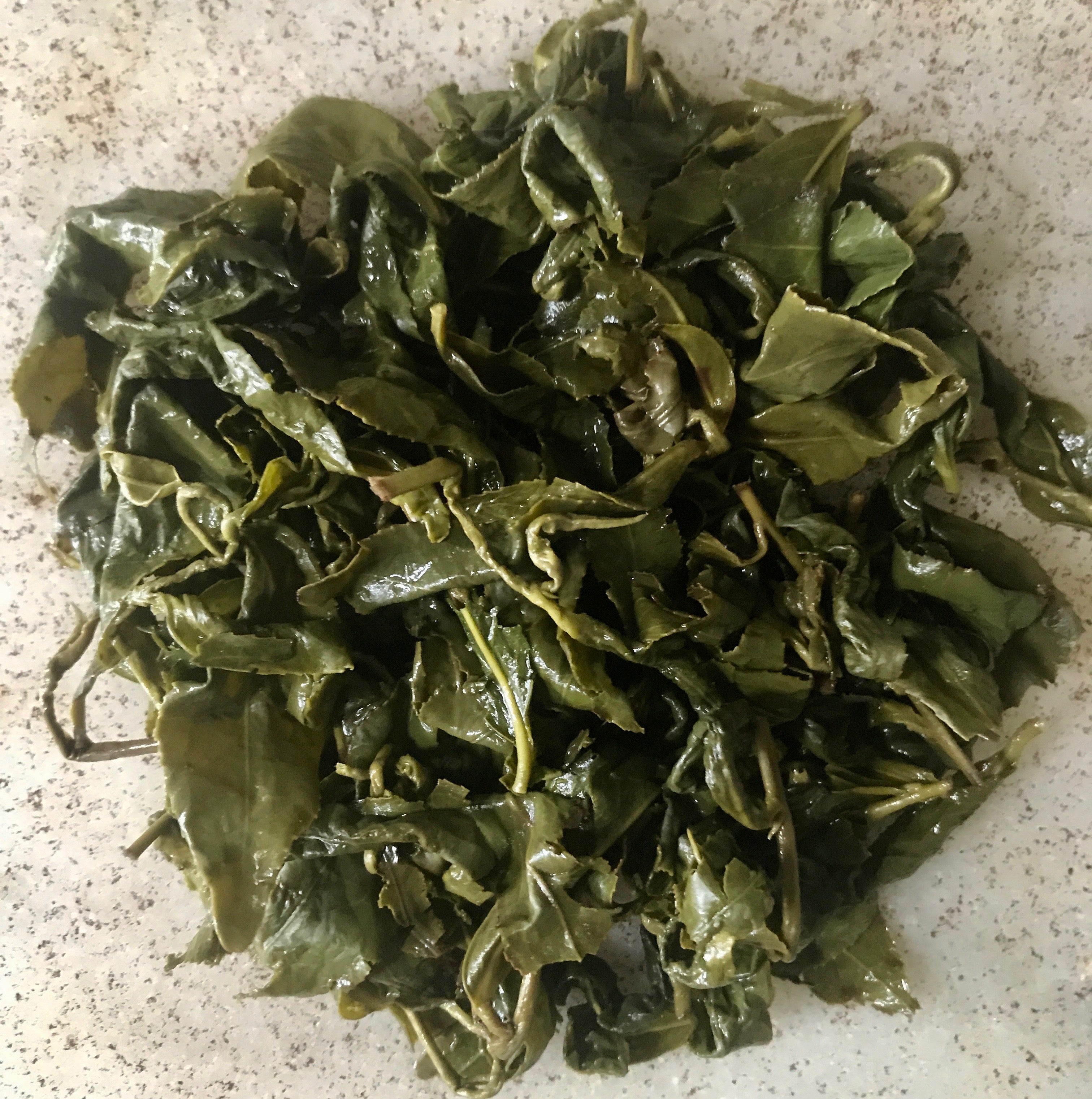 Eco-Cha Tea Club Light Roast Phoenix Village Oolong - brewed tea leaves