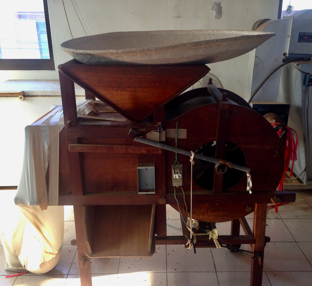 All wooden pre-modern grain sifter used for sifting tea leaves