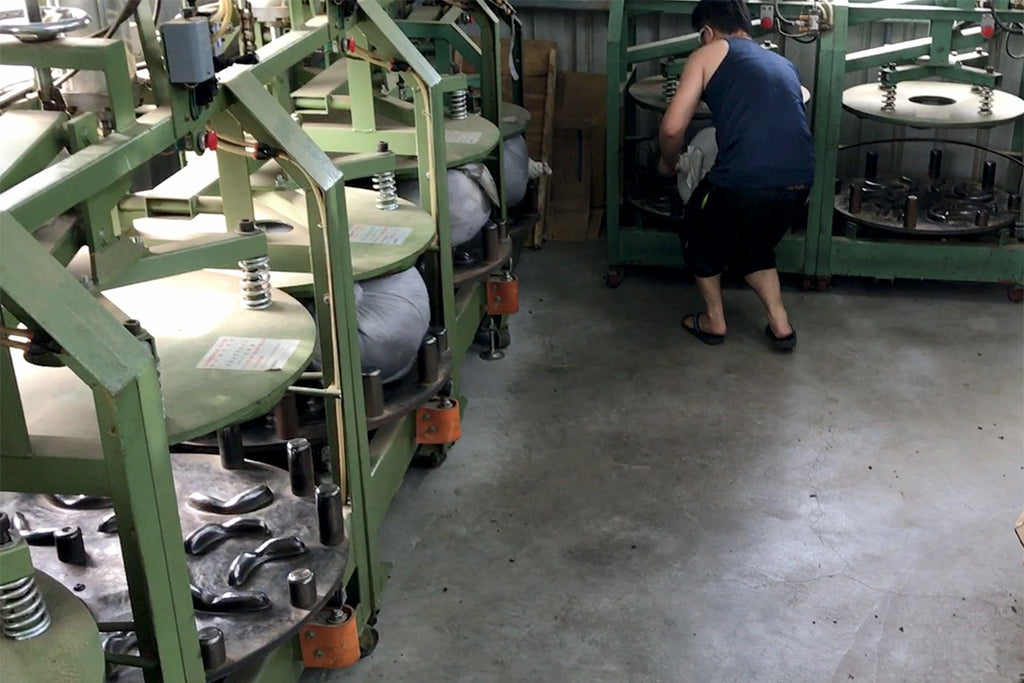 Rolling of oolong tea leaves in Taiwan usually is done with ball rolling machines