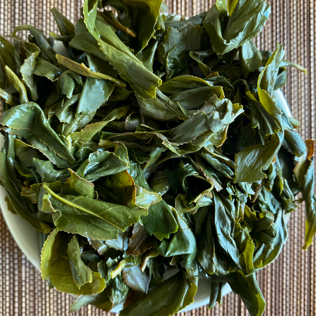 Wenshan Baozhong brewed tea leaves