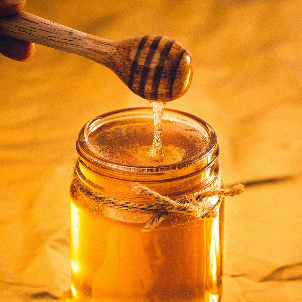 Honey can be used to sweeten iced tea
