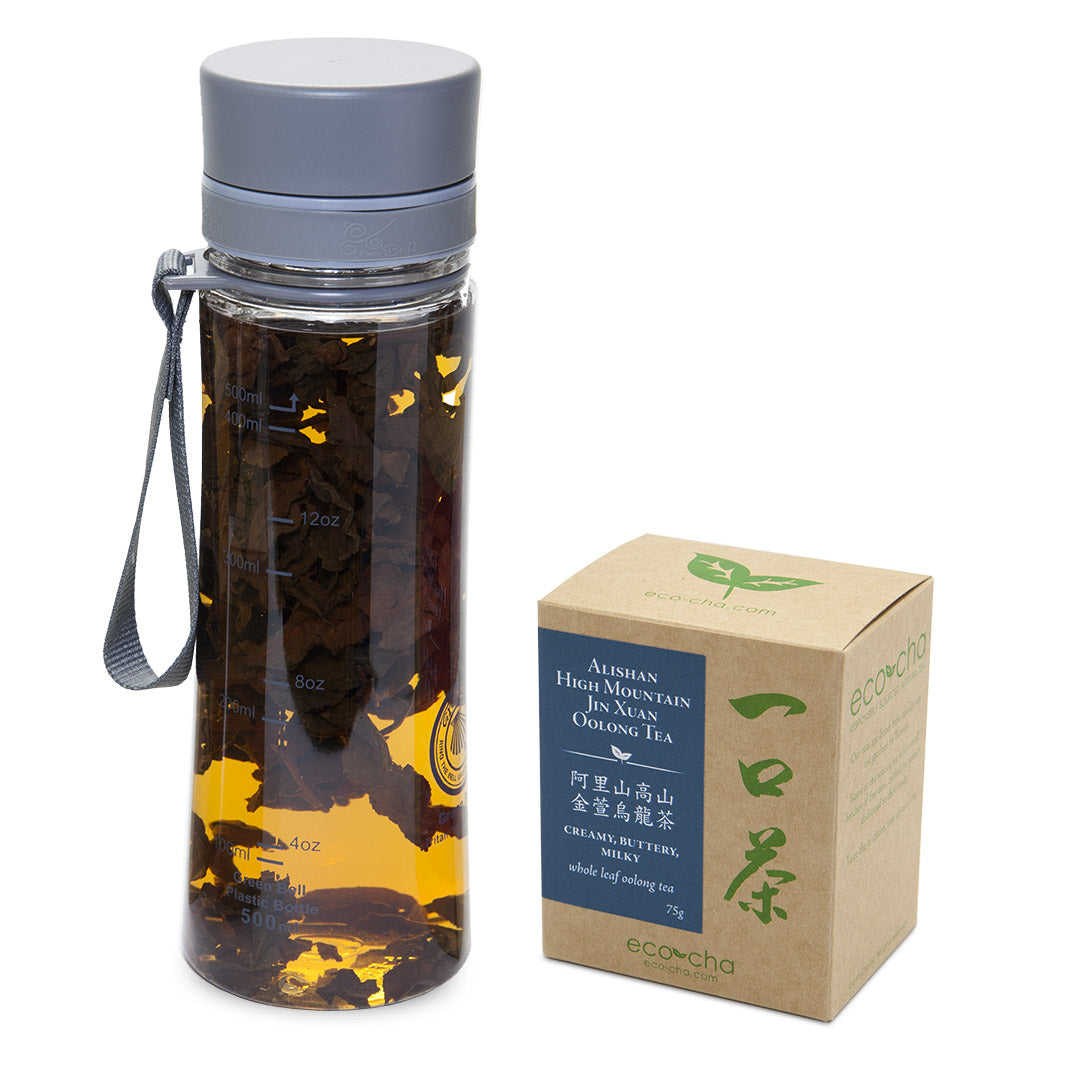 Cold Brew Bottle + Alishan High Mountain Jin Xuan Oolong Tea