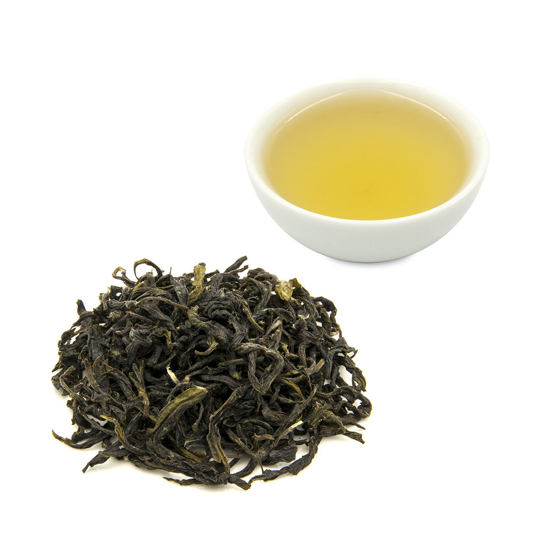 Bi Luo Chun Green Tea and leaves