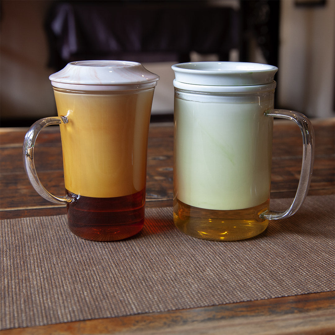 Glass Brew Mug with Ceramic Strainer