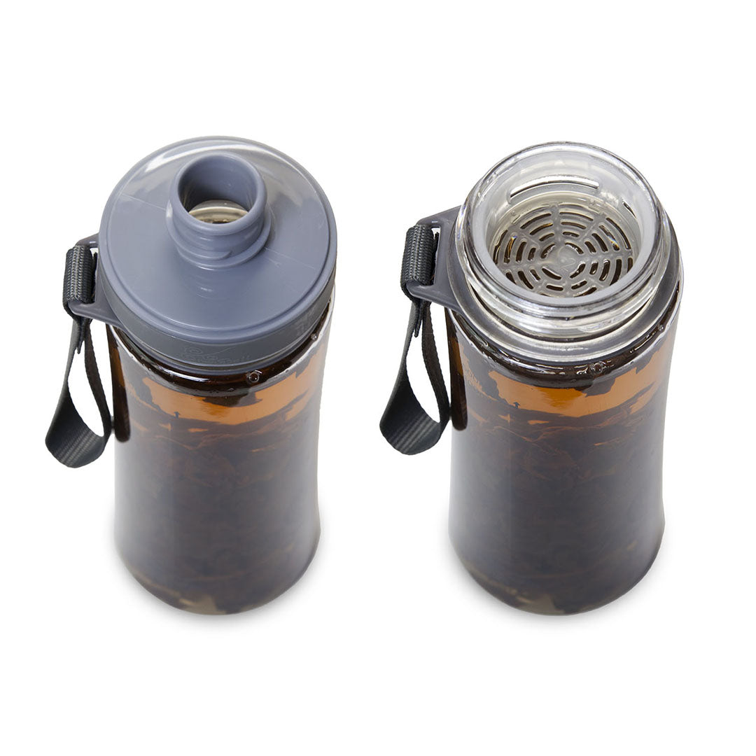 Cold brew tea bottle mesh screen
