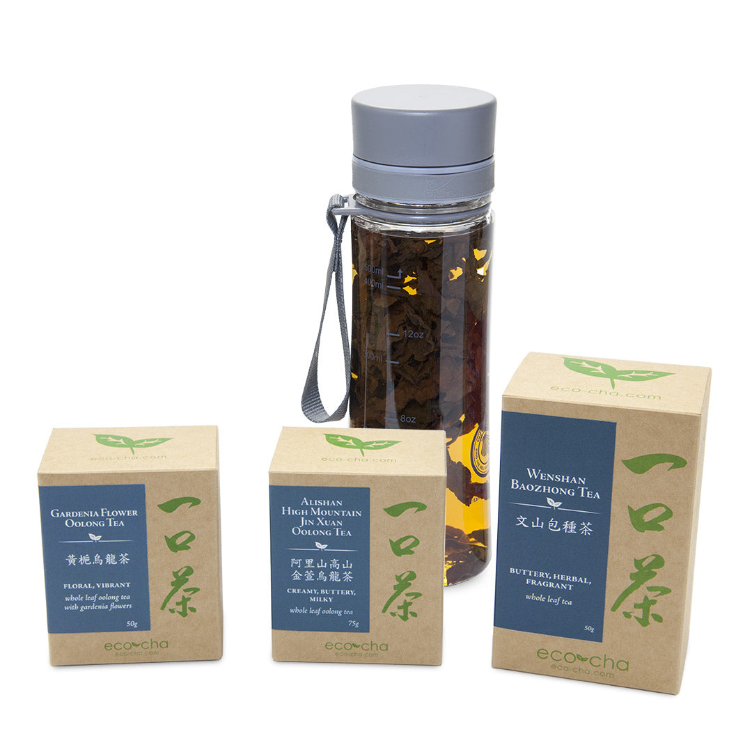 Cold brew tea bottle and tea package deal