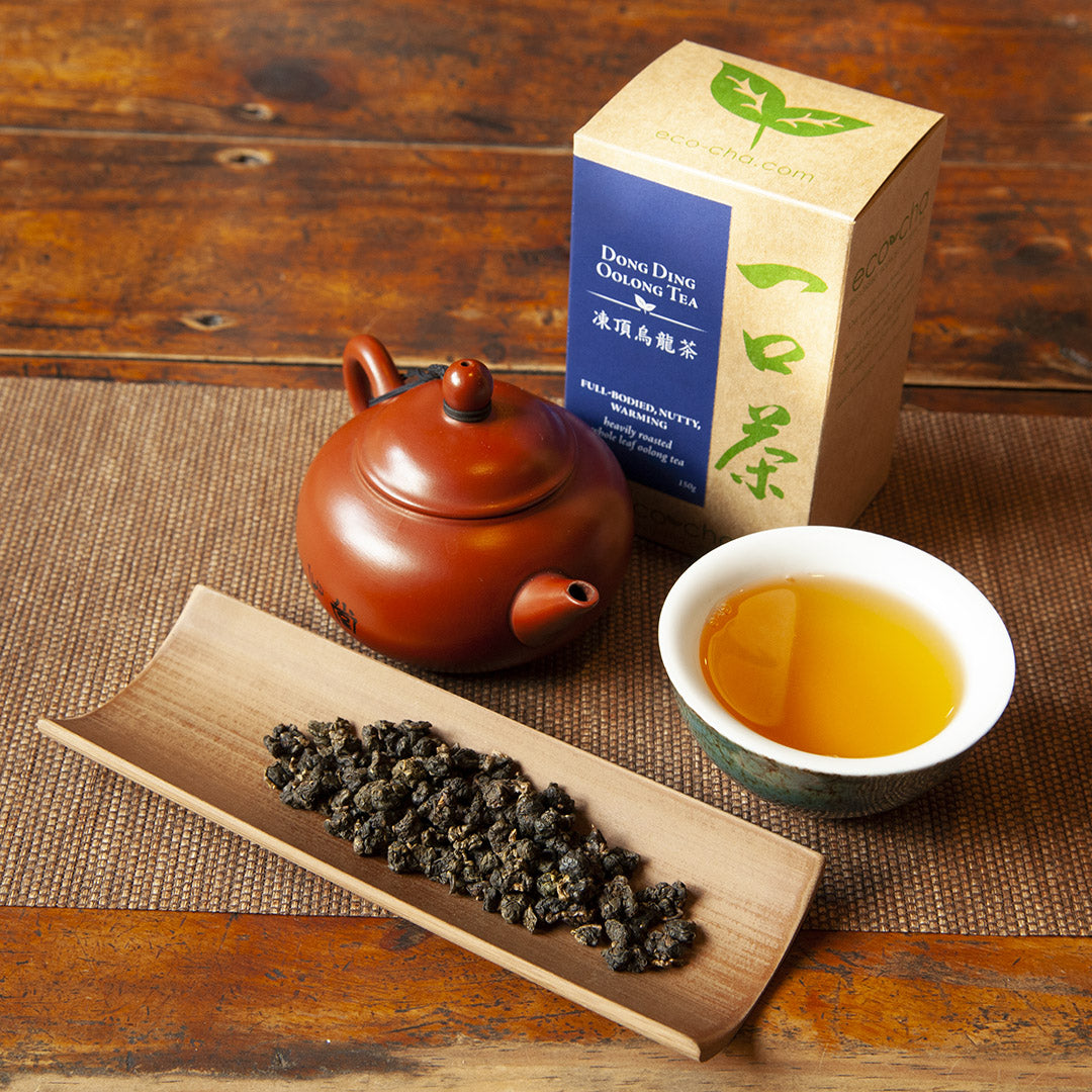 Dong Ding Oolong Tea with teapot