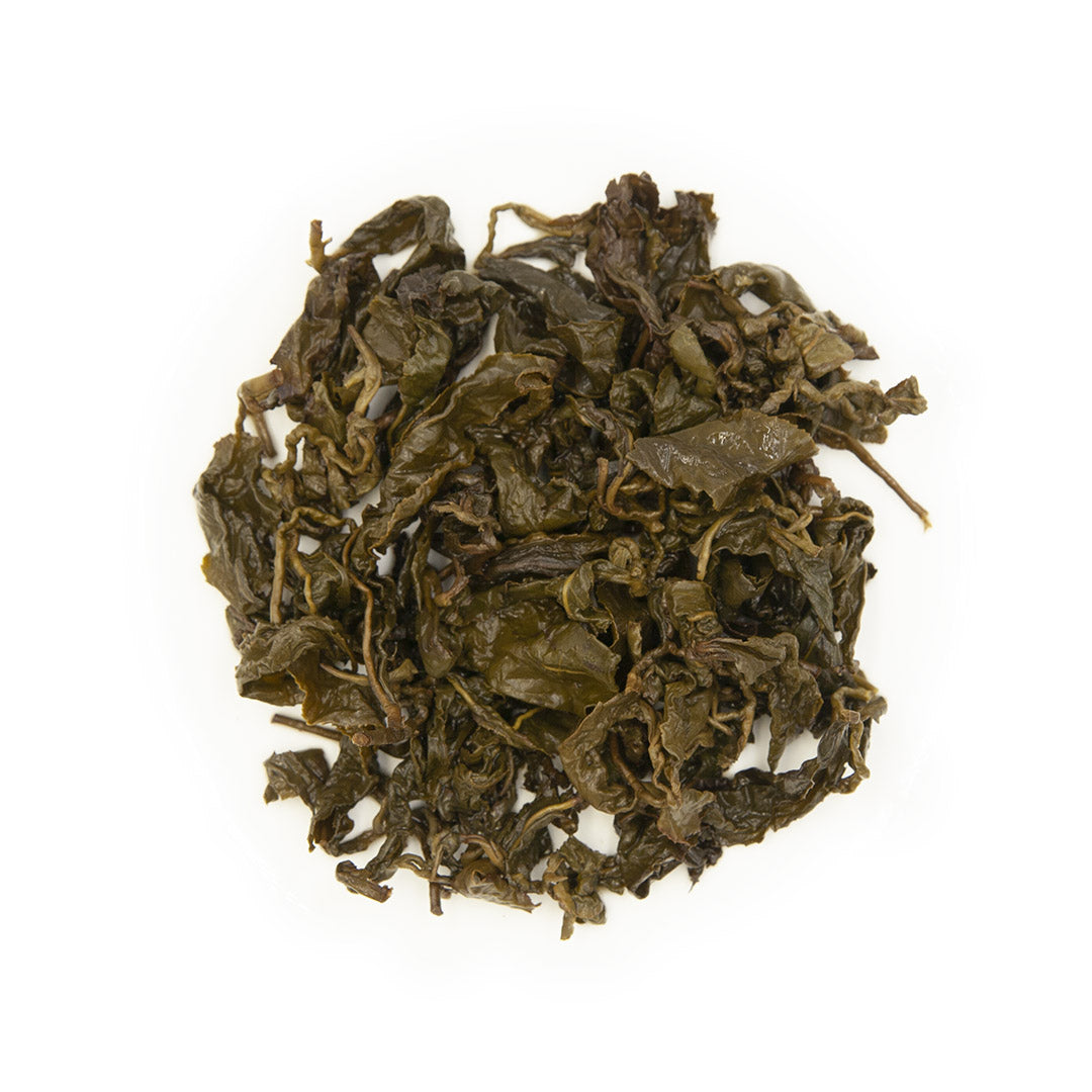 Dong Ding Oolong Tea, wet leaves