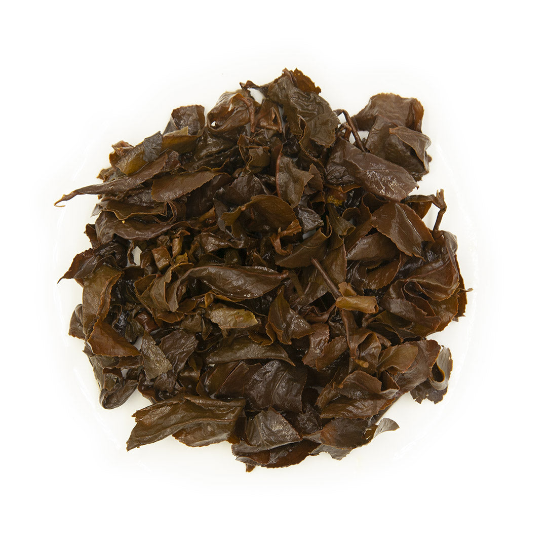 Eco-Farmed GABA Oolong Tea, wet leaves