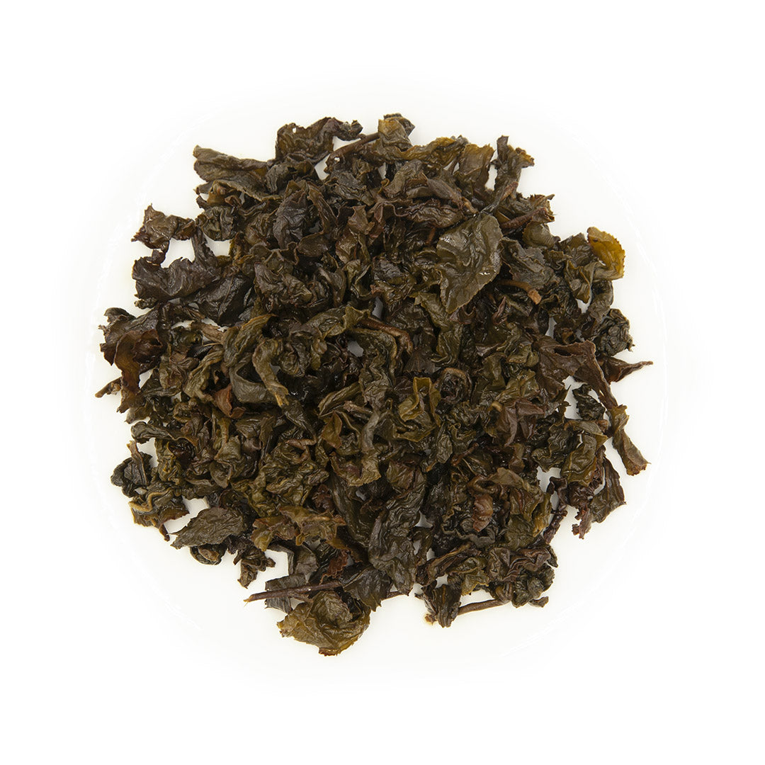 Eco-Farmed Heavy Roast Oolong Tea, wet leaves