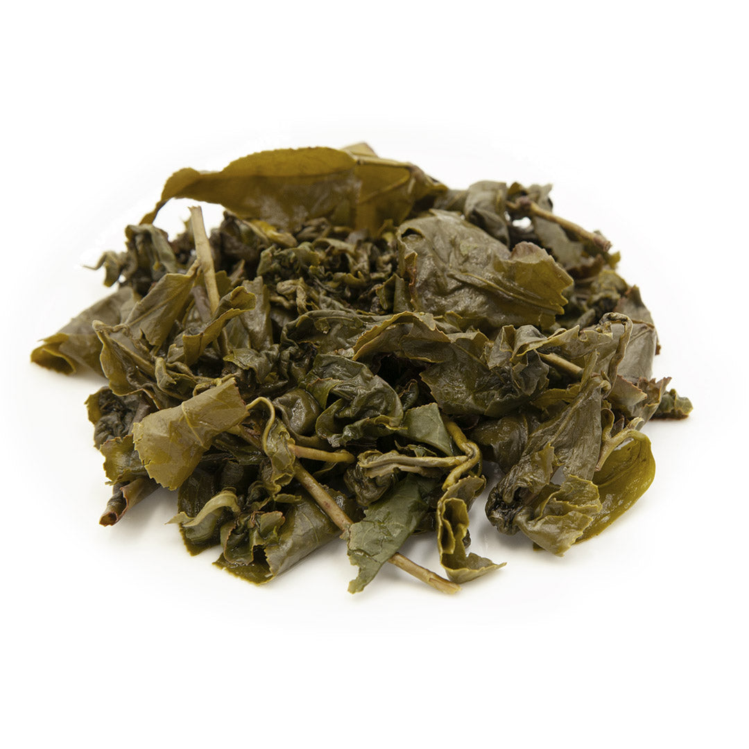 Four Seasons Spring Oolong Tea, wet leaves