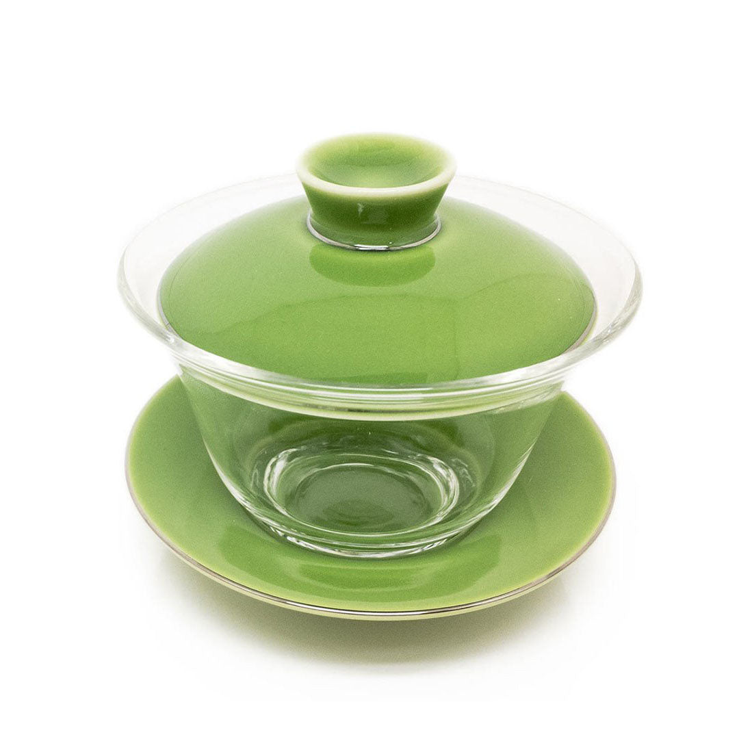Eco-Cha Colored Lid and Saucer Gaiwan - Green