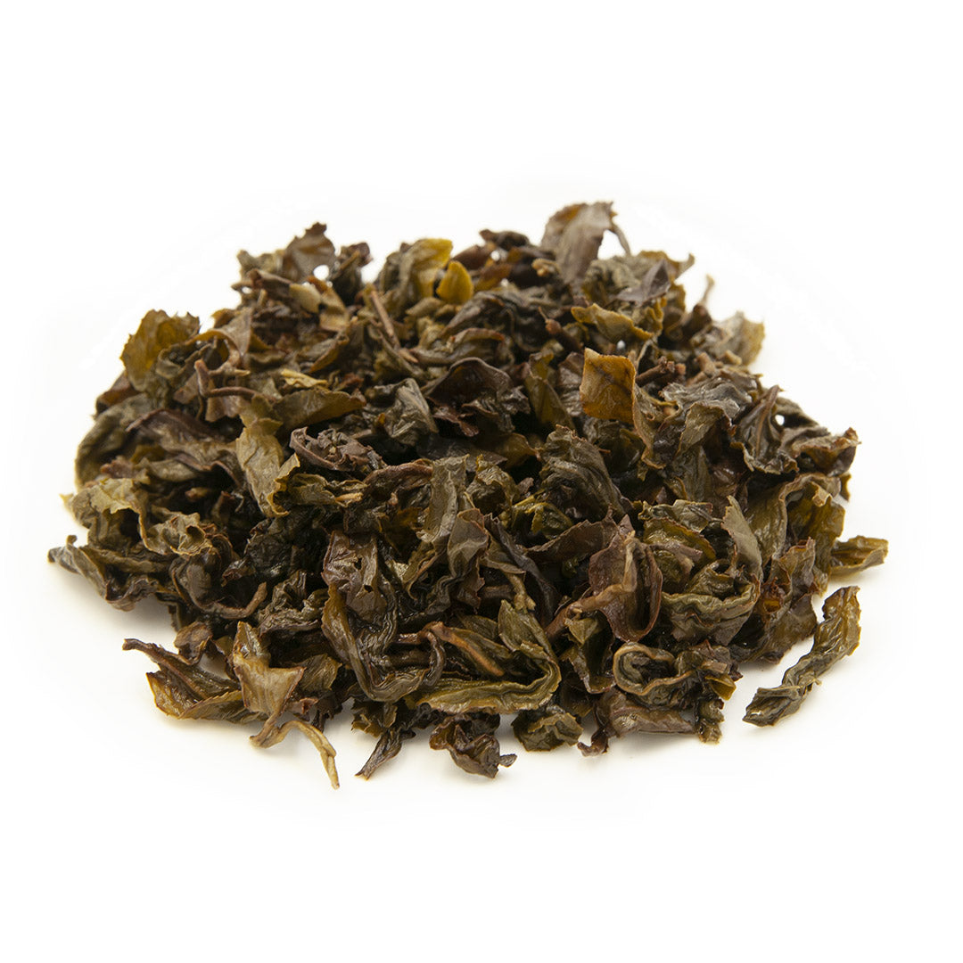Gardenia Flower Oolong Tea, wet leaves