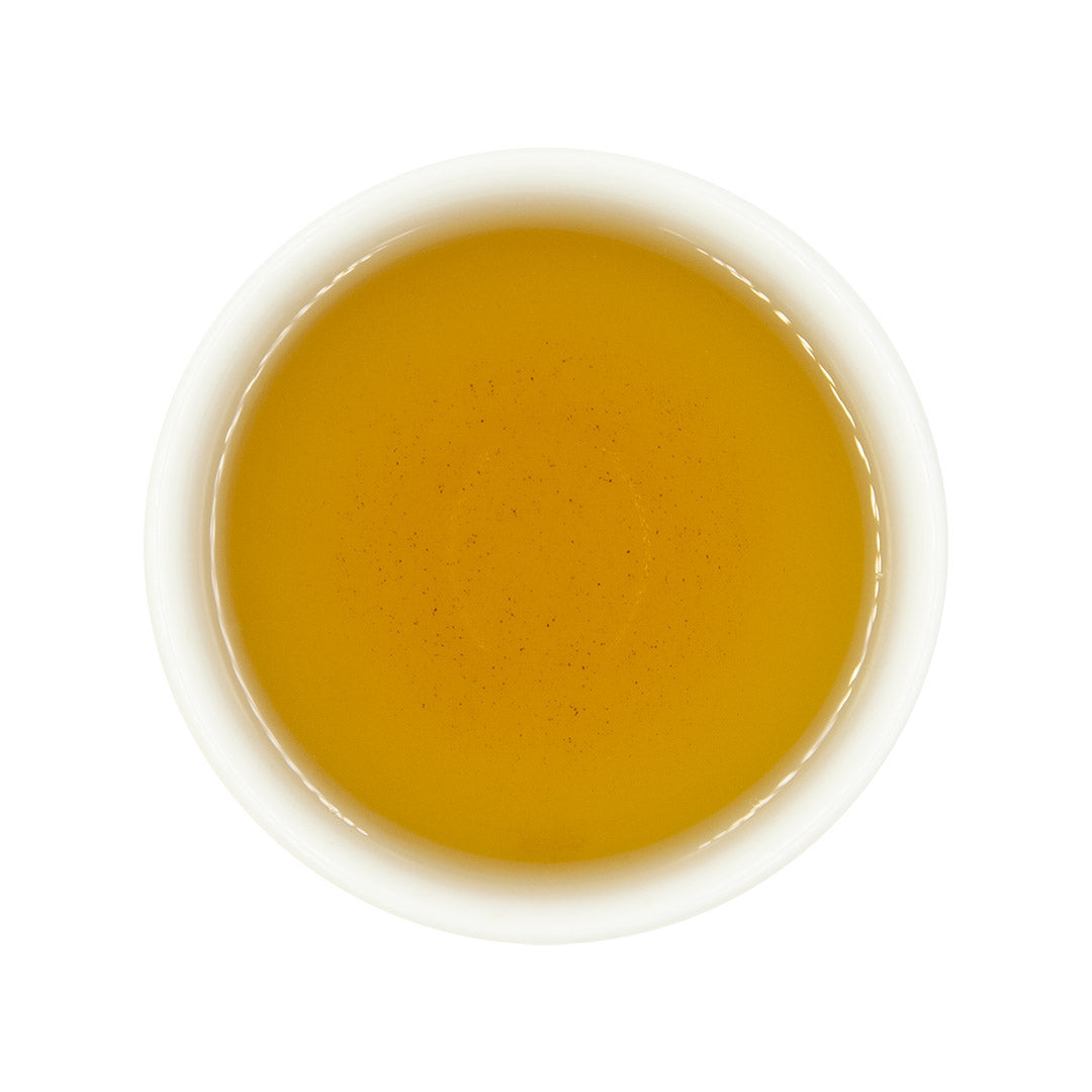 Gardenia Flower Oolong Tea, brewed top view