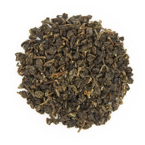 Gardenia Flower Oolong Tea, dry leaves top view