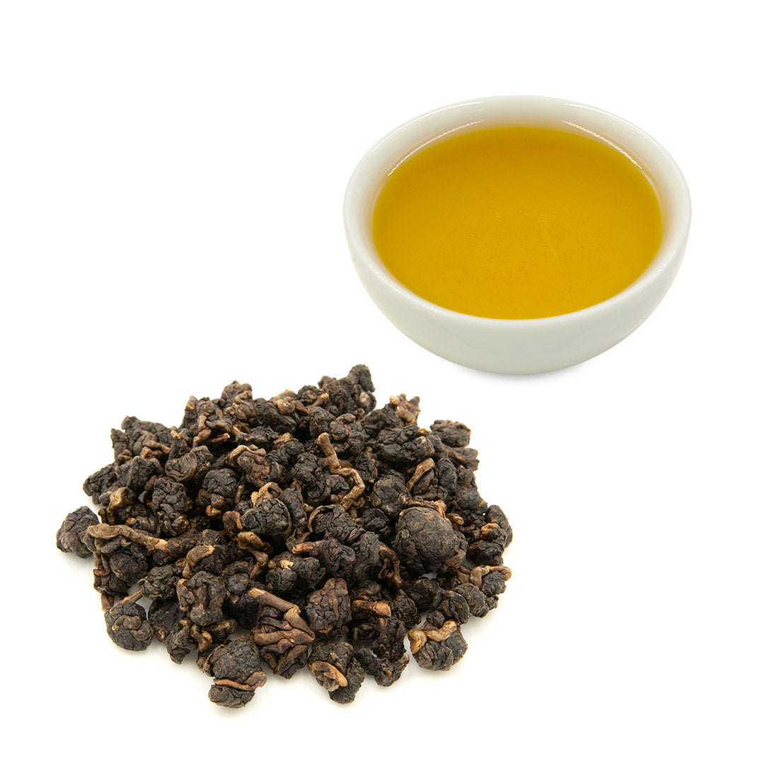 High Mountain Concubine Oolong brewed and dried leaves
