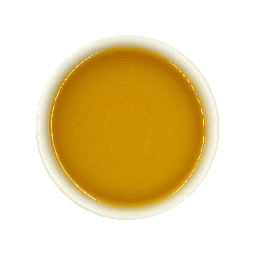 High Mountain Concubine Oolong Tea, brewed tea top view