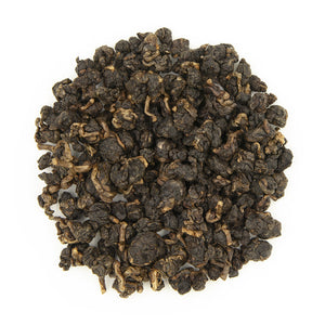 High Mountain Concubine Oolong Tea, dry leaves top view