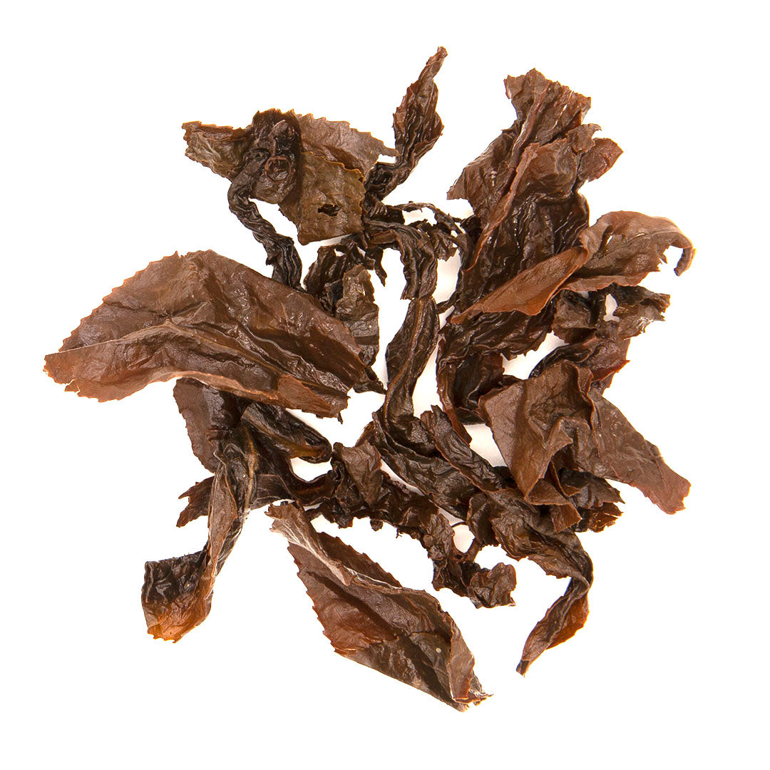 Hong Oolong Tea brewed tea leaves