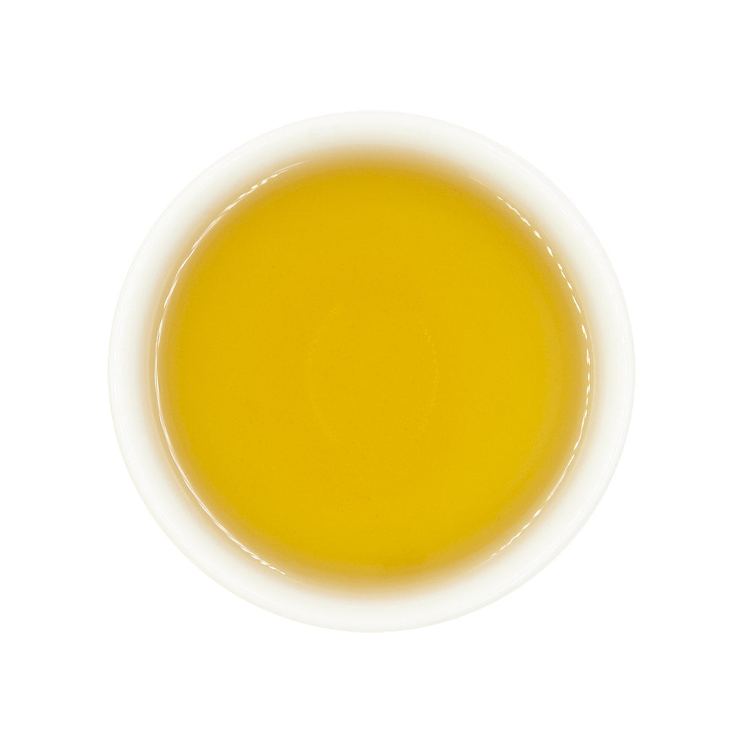 Jasmine Flower Oolong Tea, brewed tea top view