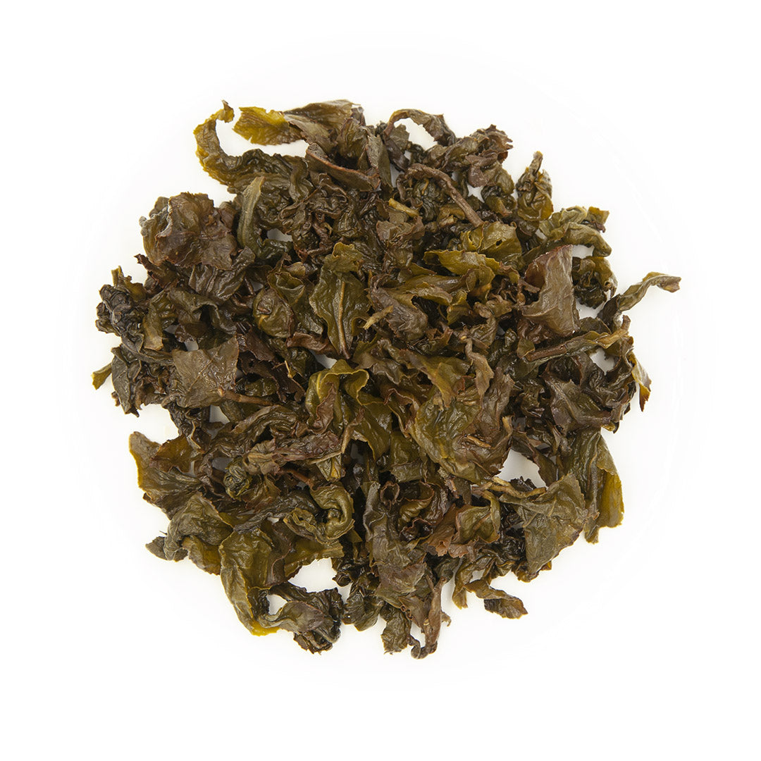 Jasmine Flower Oolong Tea, wet leaves