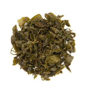 Jin Xuan Oolong Tea, wet leaves