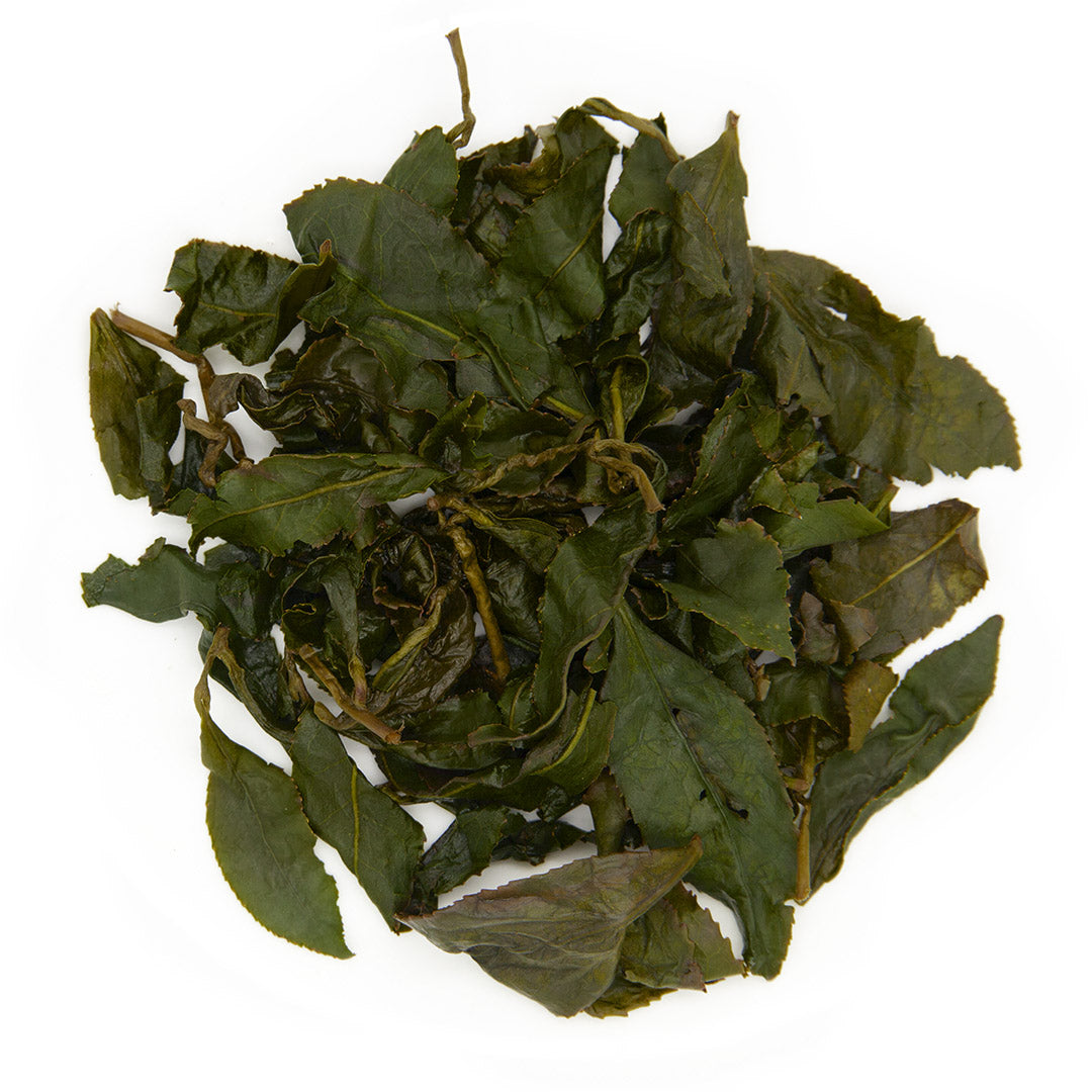 Li Shan High Mountain Oolong Tea, wet leaves