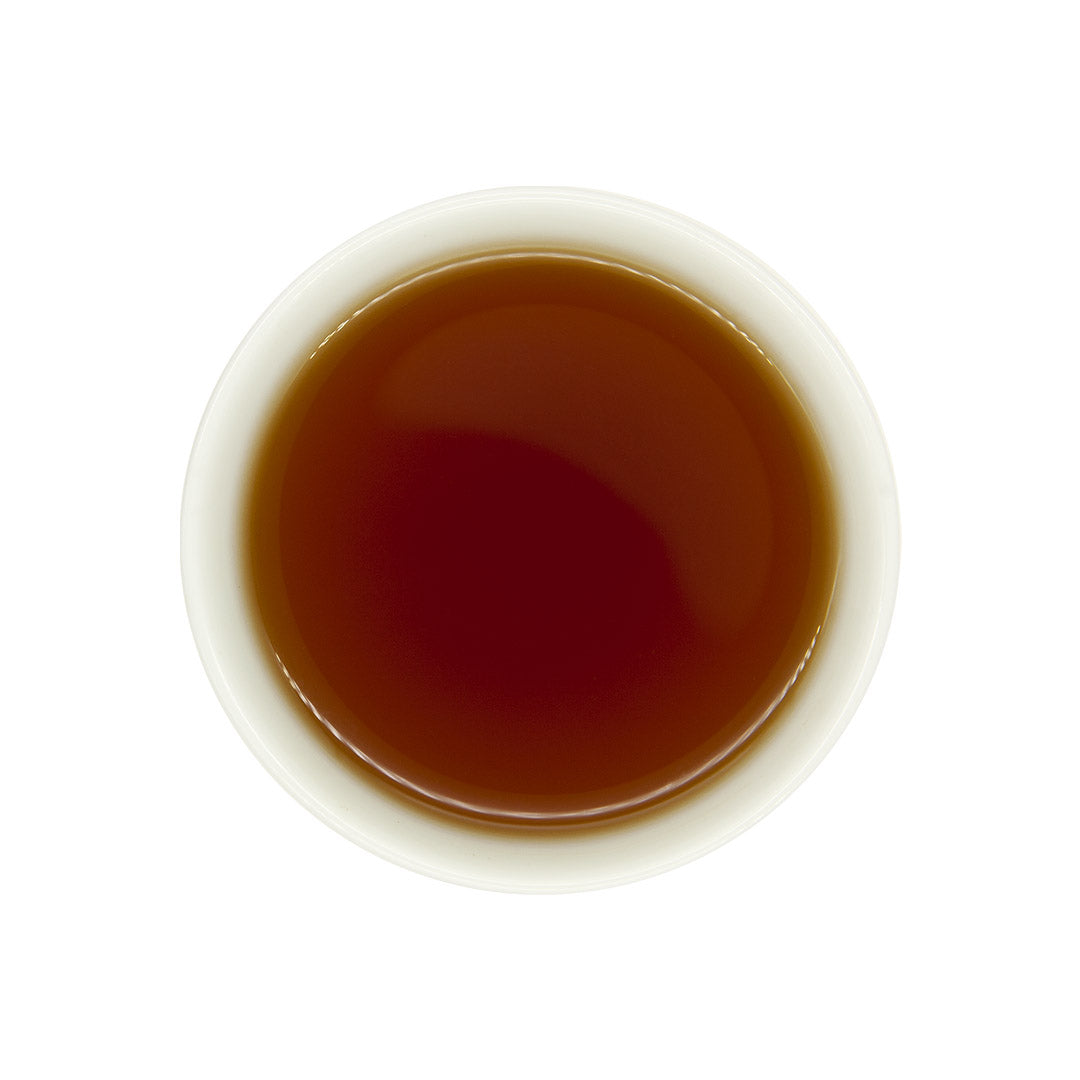 Red Jade Black Tea, brewed tea top view