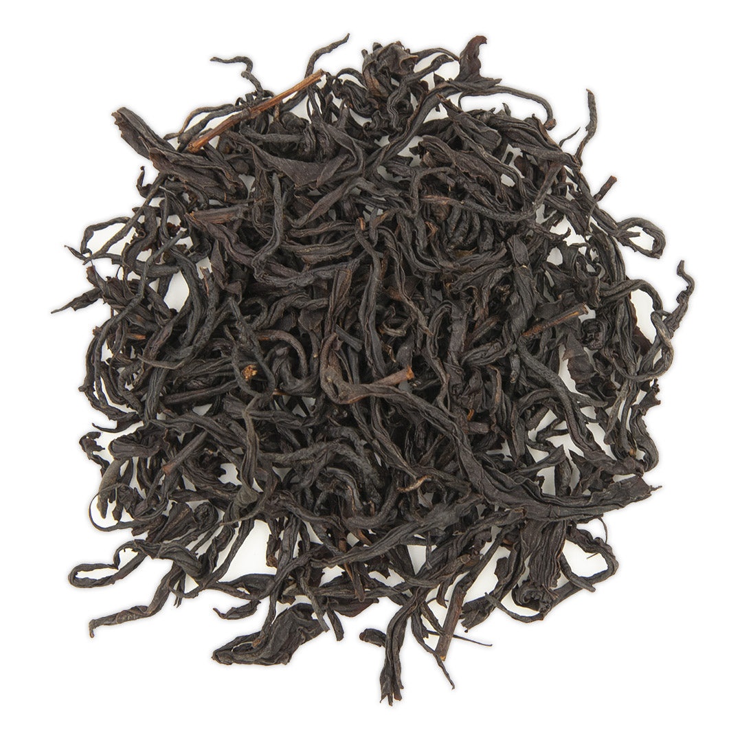 Red Jade Black Tea, dry leaves top view