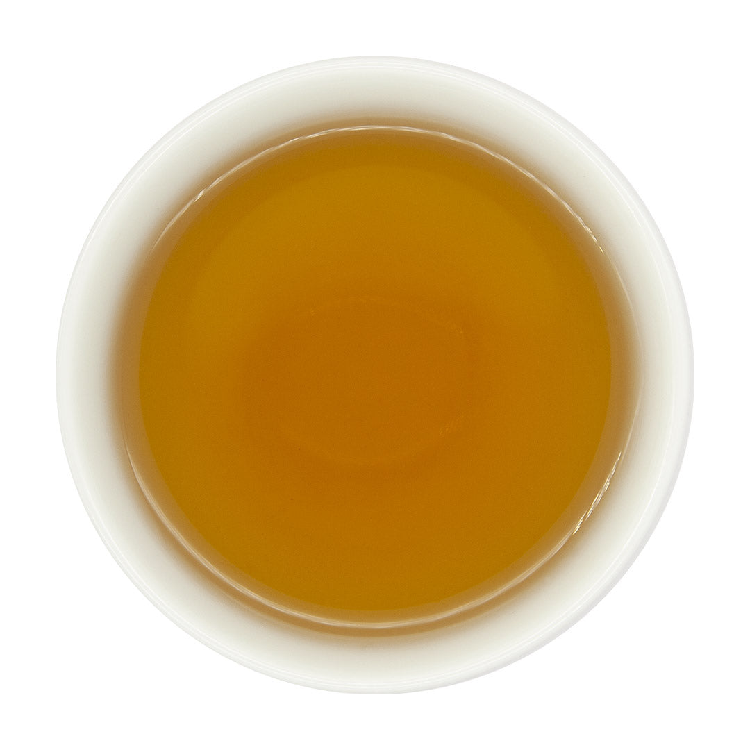 Roasted Tsui Yu Oolong Tea in cup, top view