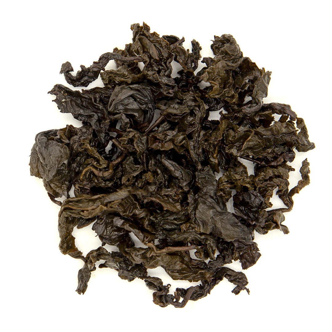Roasted Tsui Yu Oolong Tea, wet leaves