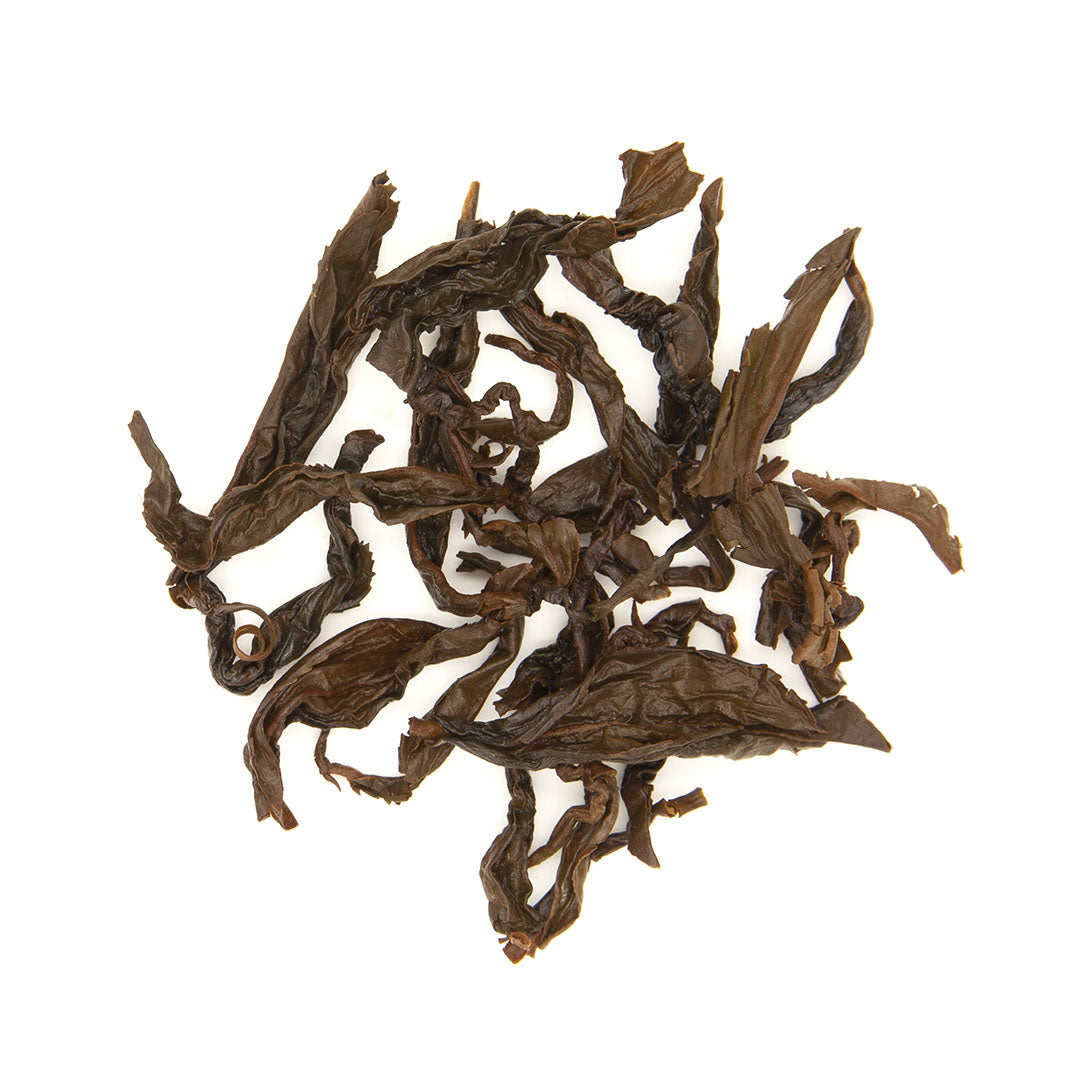Taiwan Small Leaf Black Tea brewed leaves viewed from top