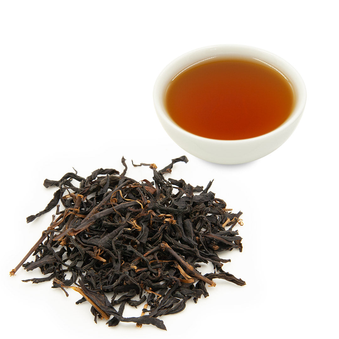 Small Leaf Black Tea and leaves