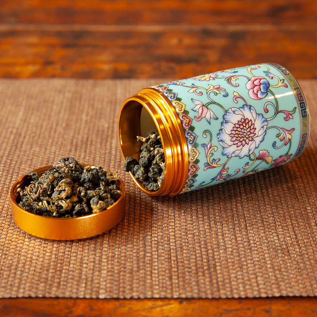 Travel tea caddy (blue)