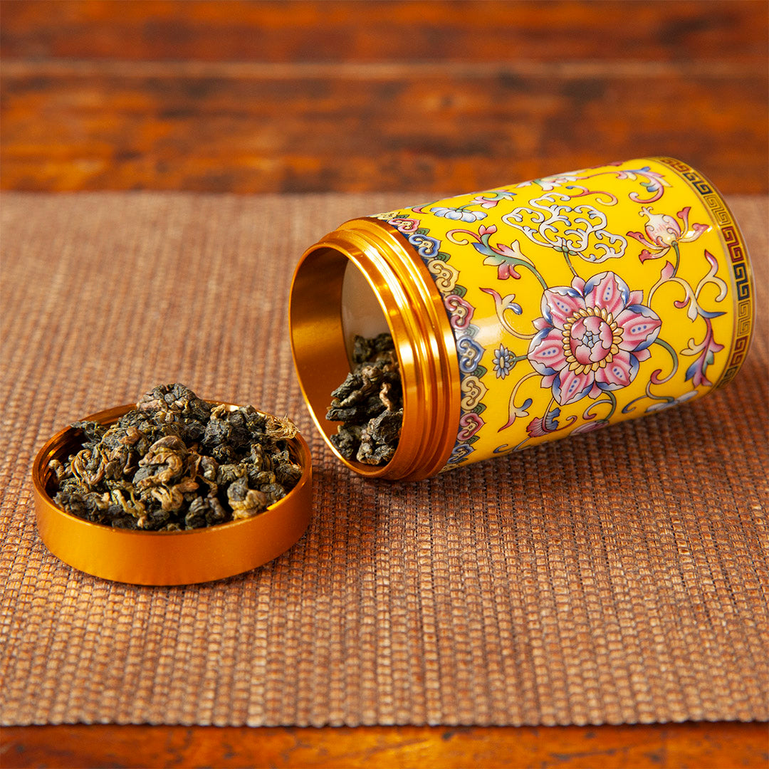 Travel tea caddy (yellow)