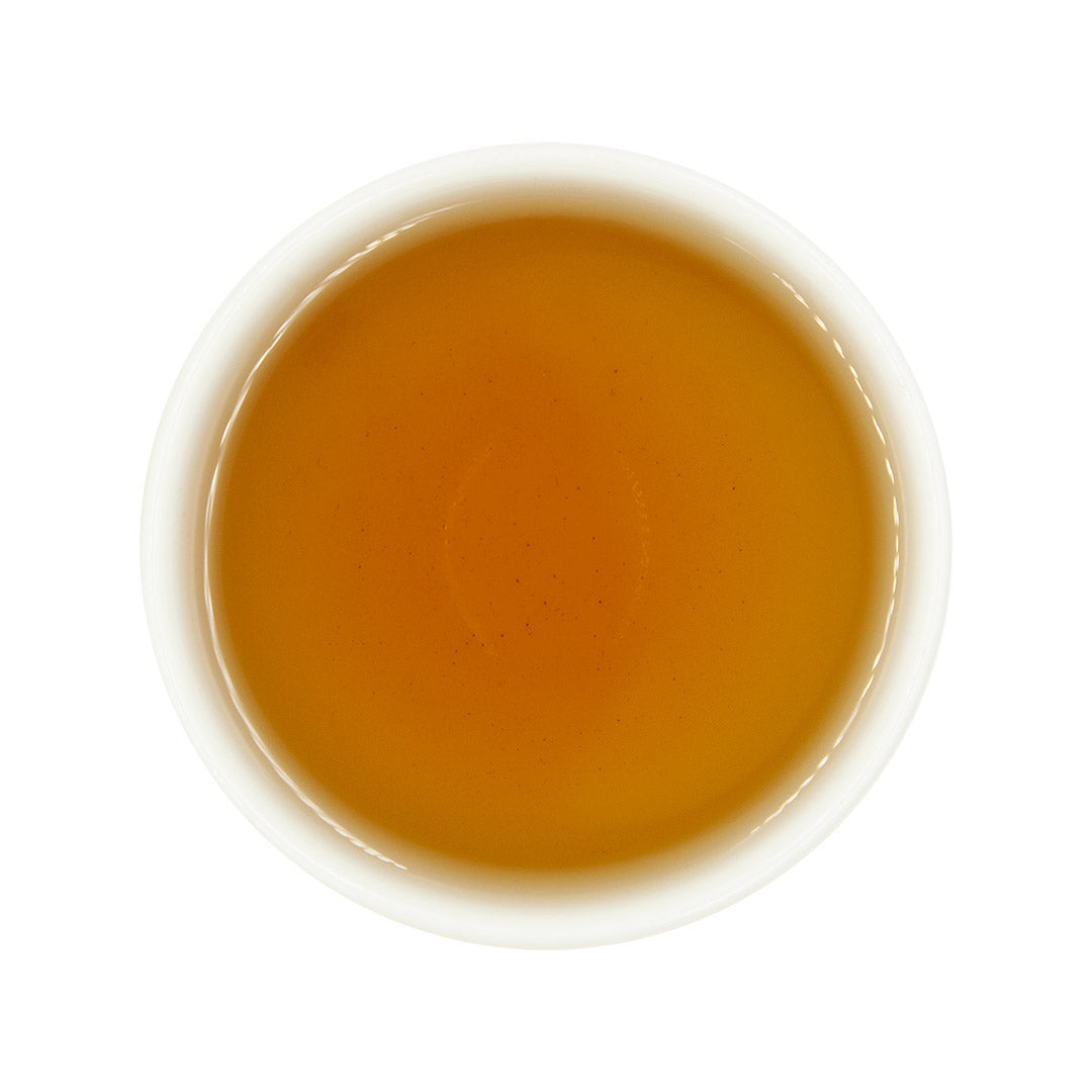 Tie Guan Yin Oolong Tea, brewed top view